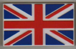 Great Britain Country Flag Soft PVC Fridge Magnet.